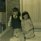 "Photo:Me with my sister ""and Judy"" our dog before Chum"
