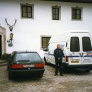 Photo:A DRIVING JOB - Me with a hired van at Lake Chiemsee Hotel, east of Munich.
