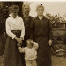 "Photo:The ""Three Sisters"" - my Gran, her eldest sister Annie,and her middle sister Sophia, with Uncle Charlie - Gran's youngest child."
