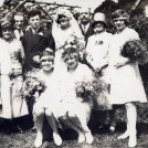 Photo:Mum and Dad's wedding - Willy (William) Speed and Rose Adelaide Lillywhite) - at Stoughton West Sussex, 5 August 1929.