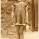 Photo:My sister, Sylvia Bligh, in dress knitted by mum (Eunice) c1933 at 41 Whitehawk Avenue
