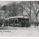 Photo:231 - Trams in Victoria Gardens, c1925