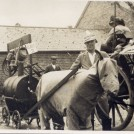 Photo:Uncle Joe at Westbourne Carnival (1930's).  But! - Who are in the 'horse' and what is in the barrell?!!
