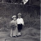Photo:Me as a bridesmaid aged three, with cousin Roy Rowett, at Auntie Edie's wedding to Earnest  Farnden at Westbourne.  6 June 1938.