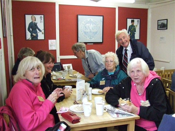 Photo:Char and a wad (tea and a sandwich) in the NAAFI. Charlie, on the right of the picture, actual served at Tangmere and suggested this trip. Nice one Charlie.
