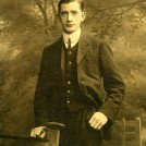 Photo:Arnold Woodcock, aged 27, engagement photo. DOB 12.07.1888, died 22.08.1958