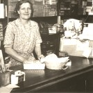 Photo:Mum in 'Auntie' Grace (Alderton)'s Woolshop, - Bristol Gardens, Brighton (1950'S/1960'S)