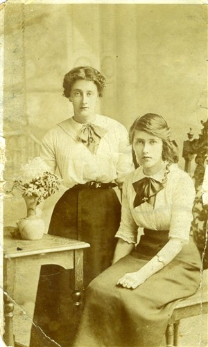 Photo:My mum (on the right) with her sister