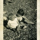 Photo:With my cousin Anita on Brighton beach in 1939