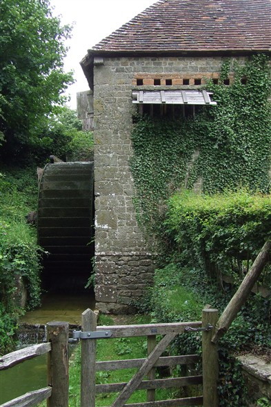 Photo:Watermill from Lugashall, Sussex. A fully working mill from which flour can be purchased.