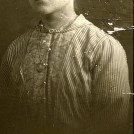 Photo:Flora Woodcock (nee Watson) aged 27, engagement photo. Flora was born 28.02.1888 and died 22.07.1963, aged 75, in Seaforth, Liverpool, Lancs.
