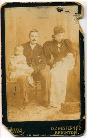 Photo:George, Clara and Frederick Stoner (pic1)