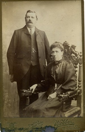 Photo:George and clara Stoner (nee Wheeler)