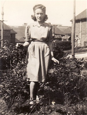 Photo:Hazel Simpkins in the garden at 3 Nuthurst Road, Brighton