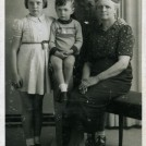 Photo:My sister Ida, me, my Aunt Olga and my Grandmother Maddalena Petrucco (grandmother) in 1943
