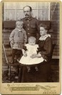 Photo:Gran and Granddad Lillywhite with eldest sons Jim and Joe, Andover Hants 1907.