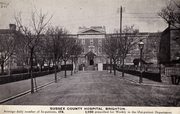 Photo:Sussex County Hospital fund-raising postcard (front)