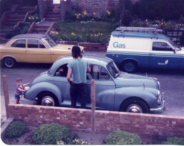 Photo:Myself and my son Alex cleaning the car, 1982