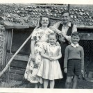 Photo:Me with my sister Ida and my cousin John and my neice Ruth. Taken in the garden of 51 Belgrave Street circa 1953