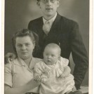 Photo:My sister Ida with her husband George and baby Ruth in early 1950