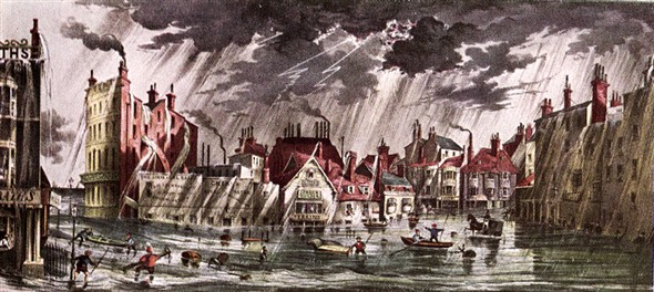 Photo:Flooding at Pool Valley, Brighton, 17 July 1850